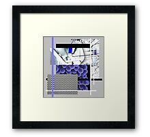 Cool blue abstract Framed Print