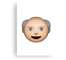 Older Man Apple / WhatsApp Emoji Canvas Print