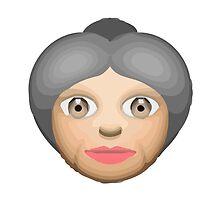Older Woman Apple / WhatsApp Emoji by emoji