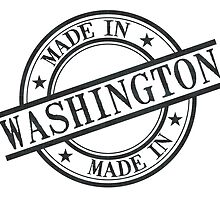 Made In Washington Stamp Style Logo Symbol Black by surgedesigns