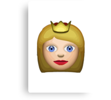 Princess Apple / WhatsApp Emoji Canvas Print