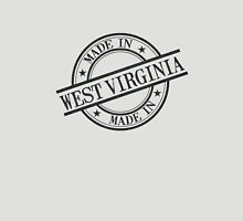 Made In West Virginia Stamp Style Logo Black Unisex T-Shirt