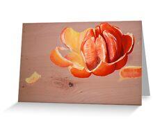 Orange Study Greeting Card