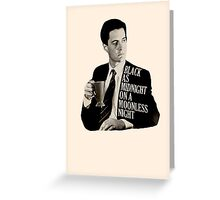Cooper and good cup of coffee Greeting Card