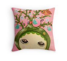 She Grows A Tree (Original Version) Throw Pillow