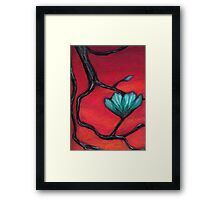 Crystalline Bloom at Sunset Framed Print