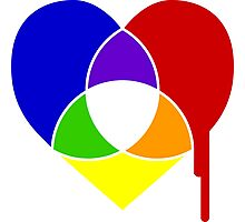 color chart heart Photographic Print