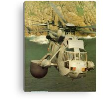 A Sea King Helicopter belonging to 849 sqn Canvas Print