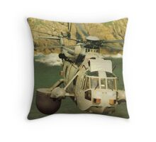 A Sea King Helicopter belonging to 849 sqn Throw Pillow