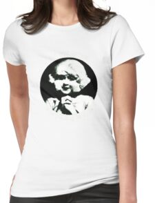In heaven (Circle) Womens Fitted T-Shirt