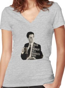Cooper and good cup of coffee Women's Fitted V-Neck T-Shirt