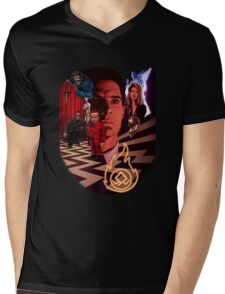 A_TWIN PEAKS_A Mens V-Neck T-Shirt