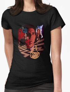 A_TWIN PEAKS_A Womens Fitted T-Shirt