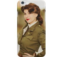 Tanya Wheelock as Peggy Carter (Photography by David Skirmont, with Additional Editing by Tascha Dearing) iPhone Case/Skin