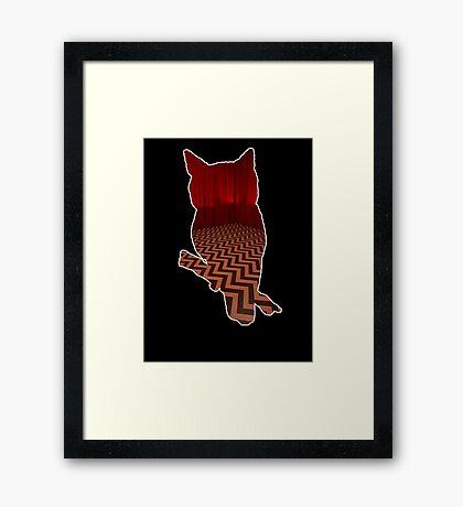 Owl (Twin Peaks) color Framed Print