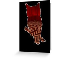 Owl (Twin Peaks) color Greeting Card