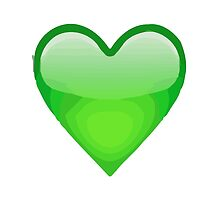 Green Heart Apple / WhatsApp Emoji by emoji