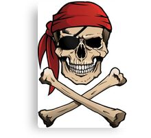 Jolly Roger pirate skull and crossbones Canvas Print