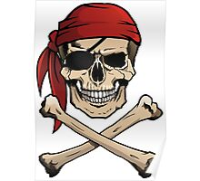 Jolly Roger pirate skull and crossbones Poster
