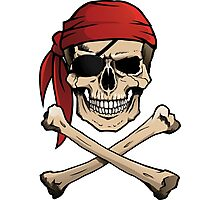 Jolly Roger pirate skull and crossbones Photographic Print