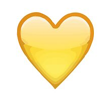 Yellow Heart Apple / WhatsApp Emoji by emoji