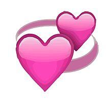 Revolving Hearts Apple / WhatsApp Emoji by emoji