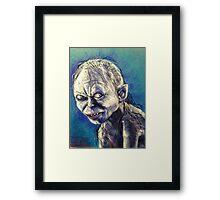 Portrait of Gollum Framed Print