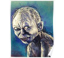 Portrait of Gollum Poster