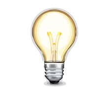 Electric Light Bulb Apple / WhatsApp Emoji by emoji