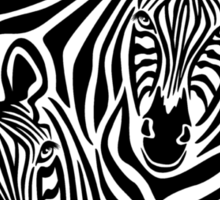 Zebra Couple Sticker