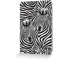 Zebra Couple Greeting Card