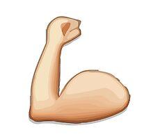 Flexed Biceps Apple / WhatsApp Emoji by emoji