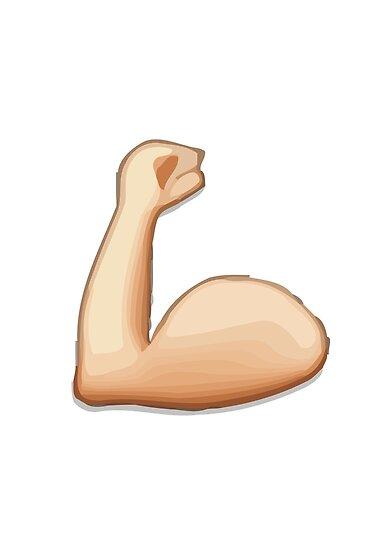 Apple WhatsApp Emoji Muscle Arm Emoji