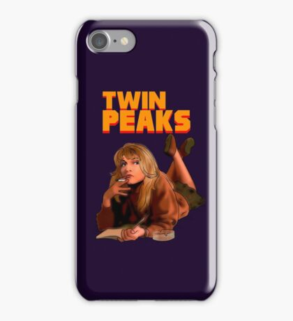 Twin Peaks Fiction (Pulp Fiction parody) iPhone Case/Skin