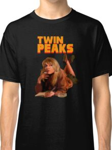 Twin Peaks Fiction (Pulp Fiction parody) Classic T-Shirt