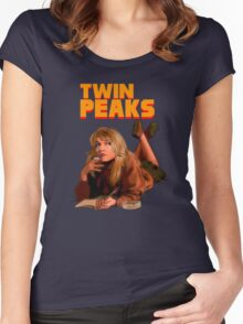 Twin Peaks Fiction (Pulp Fiction parody) Women's Fitted Scoop T-Shirt