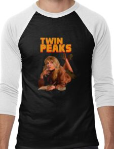 Twin Peaks Fiction (Pulp Fiction parody) Men's Baseball ¾ T-Shirt
