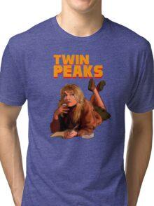 Twin Peaks Fiction (Pulp Fiction parody) Tri-blend T-Shirt