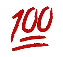 Hundred Points Symbol Apple / WhatsApp Emoji by emoji