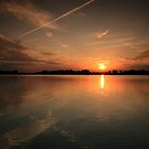 sunset over lake Drestwo by Qba from Poland