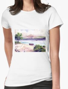 Fishing Paradise Womens Fitted T-Shirt
