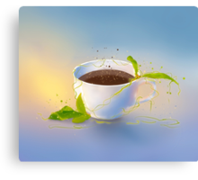Picture a cup of coffee Canvas Print