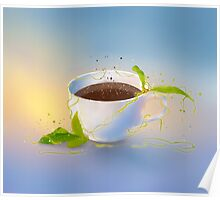 Picture a cup of coffee Poster