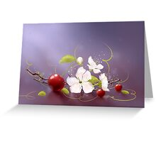 Art cherry Greeting Card