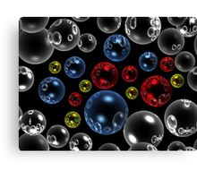 Red, White And Blue, with a splash of Yellow! Canvas Print