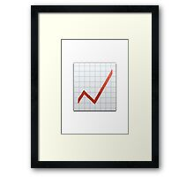 Chart With Upwards Trend Apple / WhatsApp Emoji Framed Print
