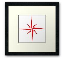 Compass Pattern Framed Print