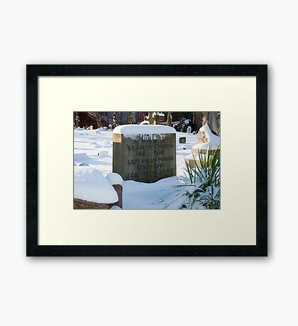Machine Gun Maxim's Grave Framed Print