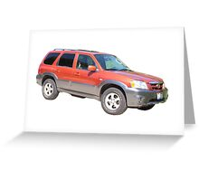 Mazda Tribute Greeting Card