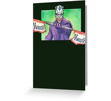 The joker Maul Greeting Card